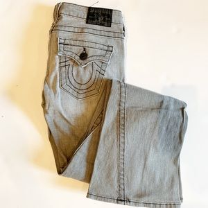 True Religion Joey Flare Twist Seam Jeans grey 26